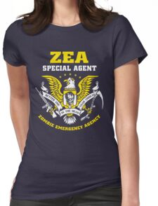 Zombie Emergency Agency Womens Fitted T-Shirt