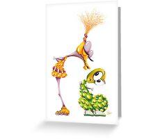 M'ODD'STER 01 - CRUSH'N Greeting Card