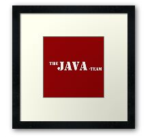 java programming language A team Framed Print