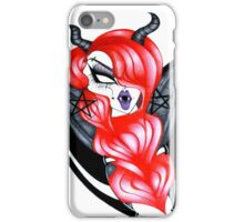 Winged Red Alien Demon iPhone Case/Skin