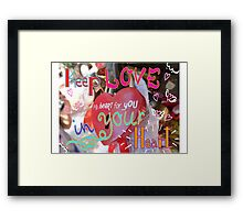 Keep love in your heart Framed Print