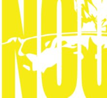 CONQUER. - Saiyan Back Squat ICONIC (Yellow) Sticker