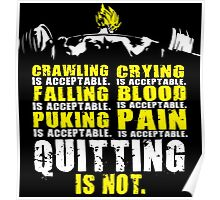 Quitting Is Not Acceptable - Saiyan Back Squat Poster