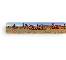 Wide Brown Land Canvas Print