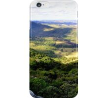 On the top of wild nature with a nice view iPhone Case/Skin