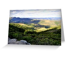 On the top of wild nature with a nice view Greeting Card