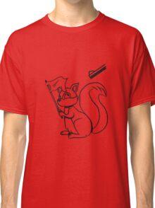 Eichhörmchen witzig weisse fahne gewehr  Classic T-Shirt