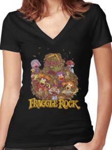 Fraggle Rock Retro Women's Fitted V-Neck T-Shirt