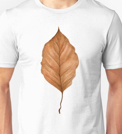 Beech leaf in autumn Unisex T-Shirt