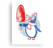 Popsicle Penguin Metal Print