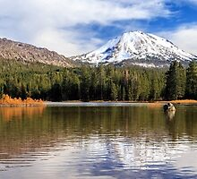 Mount Lassen Autumn Panorama by James Eddy
