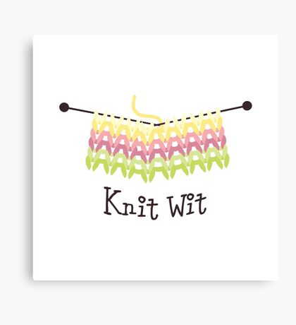 Knit Wit Canvas Print