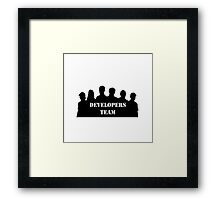 developers team programming Framed Print