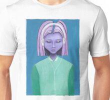 Alien girl / headphones trippy outer space fantasy art Unisex T-Shirt