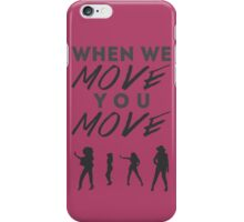 Move Typhography iPhone Case/Skin