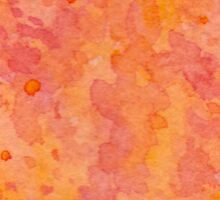 Fire / abstract watercolor warmth summer sun orange red Sticker