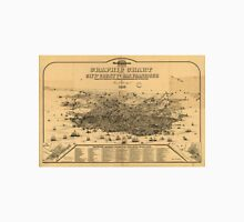 Vintage Pictorial Map of San Francisco (1875) T-Shirt