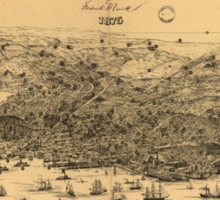 Vintage Pictorial Map of San Francisco (1875) Sticker