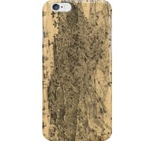 Vintage Pictorial Map of San Francisco (1875) iPhone Case/Skin