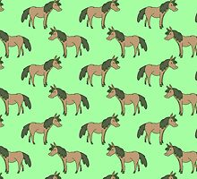 Green Horse Pattern by SaradaBoru