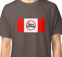 Canada Flag No Justin Trudeau Carbon Tax Protest Classic T-Shirt