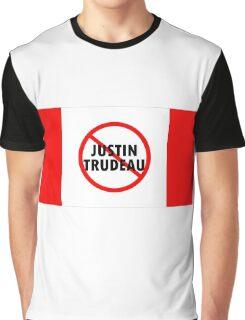 Canada Flag No Justin Trudeau Carbon Tax Protest Graphic T-Shirt