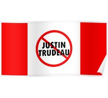 Canada Flag No Justin Trudeau Carbon Tax Protest Poster