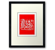 Chinese Zodiac Rooster Ancient Stamp Framed Print