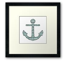 Graphic Anchor  Framed Print