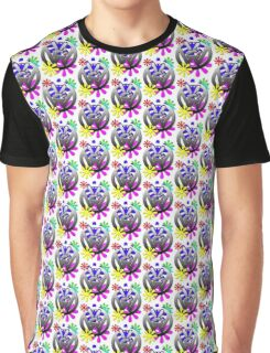 VW Peace hand sign with flowers Graphic T-Shirt