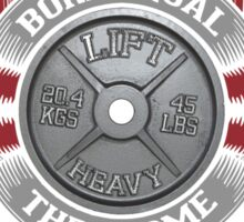 Some Step Up And Become Powerlifters (Barbell Plate) Sticker