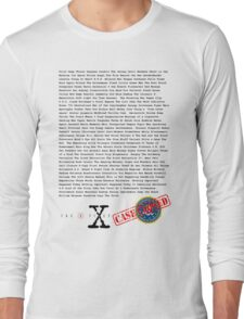 X Files - All Episodes Long Sleeve T-Shirt