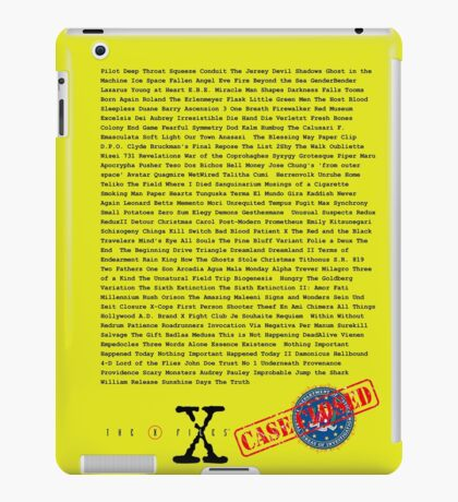 X Files - All Episodes iPad Case/Skin