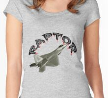 Raptor Over California Women's Fitted Scoop T-Shirt