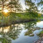 Texas Hill Country Images - Pedernales Falls September Sunrise 5 by RobGreebonPhoto