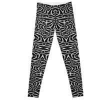 Black and White Tribal Pattern Leggings