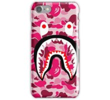 BAPE SHARK PINK CAMO iPhone Case/Skin