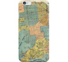 Vintage Map of San Francisco (1890) iPhone Case/Skin