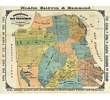 Vintage Map of San Francisco (1890) Photographic Print