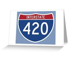 INTERSTARE 420  Greeting Card