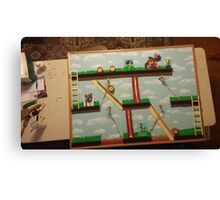 Video Game Theme Department Goal chart Canvas Print
