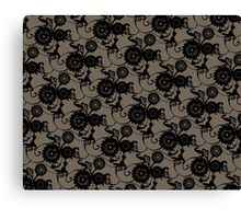 Clockwork Floral Canvas Print