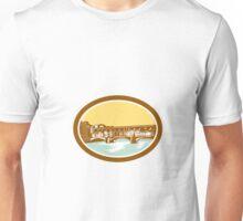 Arch Bridge Ponte Vecchio Florence Woodcut Unisex T-Shirt