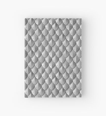 Riveted Scale Armor - Silver Hardcover Journal