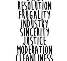 13 Virtues Sticker