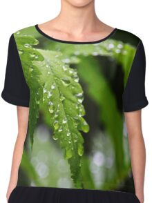 Fern Leaves Chiffon Top