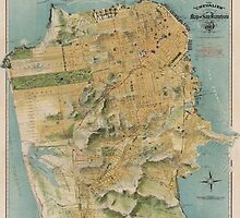 Vintage Map of San Francisco (1915)  by BravuraMedia