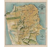 Vintage Map of San Francisco (1915)  Photographic Print