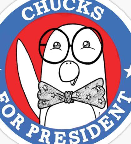 Chucks for President Sticker