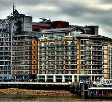 Buildings along the river Thames by kiwiguy